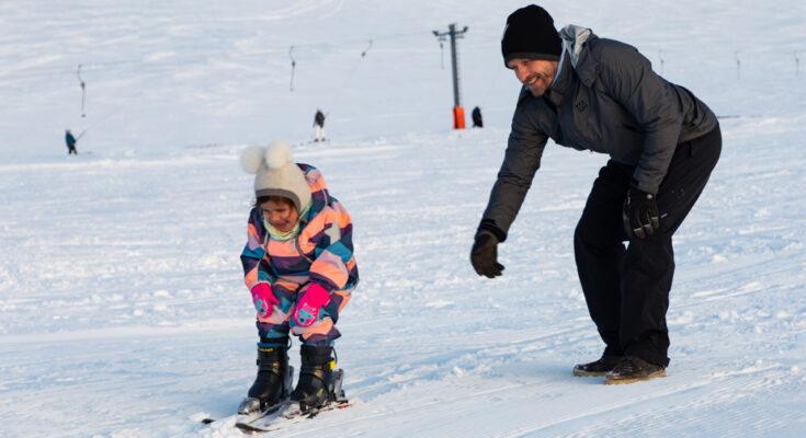 Skiing in Húsavík